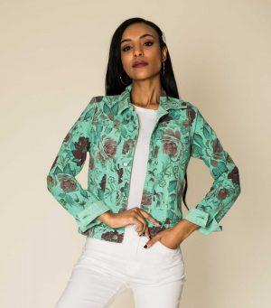 Nina Carter veste réversible vert d'eau