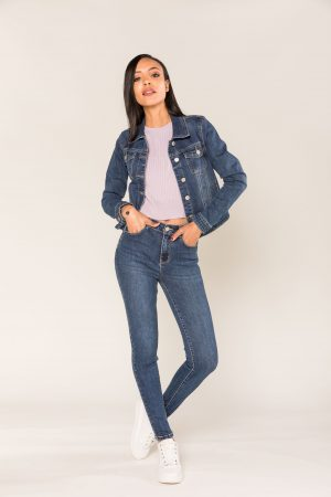Nina Carter jean skinny push up taille haute